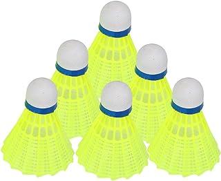 Dioche 6Pcs / Set Balles de Badminton, Professionnel Volants Badminton Ball Shuttlecock en Plein Air Formation de Sport Accessoire en Nylon