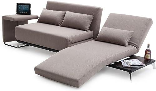 J M Furniture Premium Sofa Bed End Table JH033 in Biege