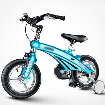 MAZHONG Bicicletas Bicicletas para Niños 3 Años 6 Años Cochecito para Bebés 12/14/16 Pulgadas Bicicleta de Montaña Plegable Manillar en Muchos Tamaños: ...