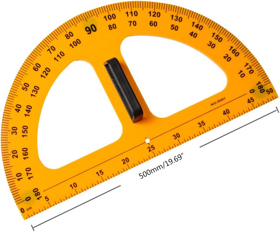 Junlinto,Multifunction Teaching Ruler Set Triangle Protractor Measurement Ruler Tools
