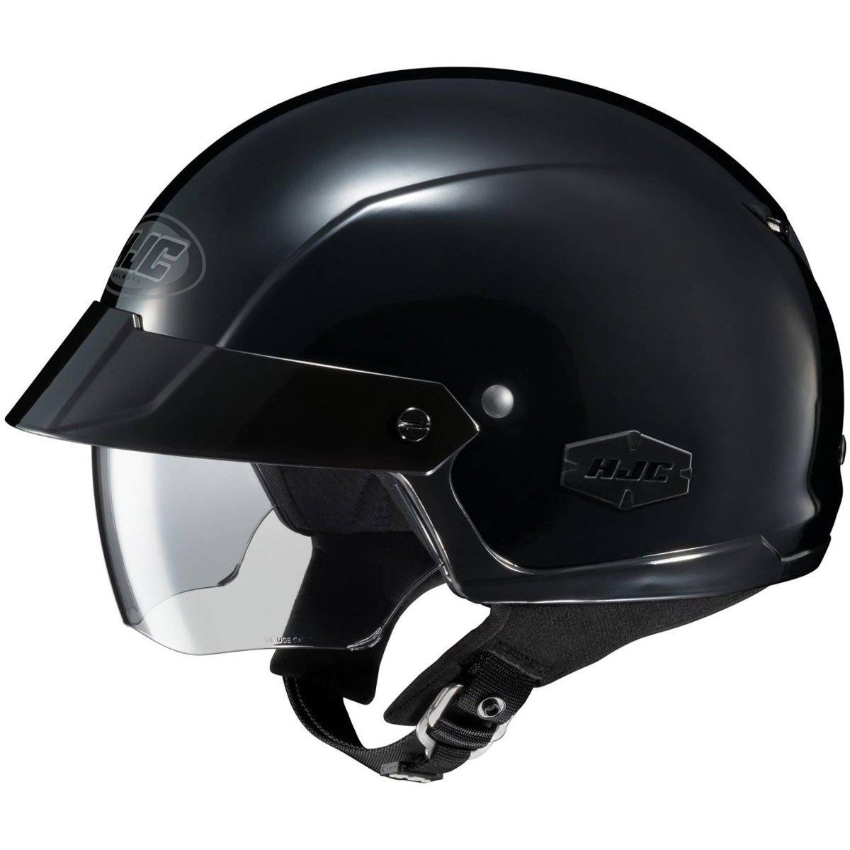 HJC Solid IS-Cruiser Half (1/2) Shell Motorcycle Helmet - Black / 2X-Large