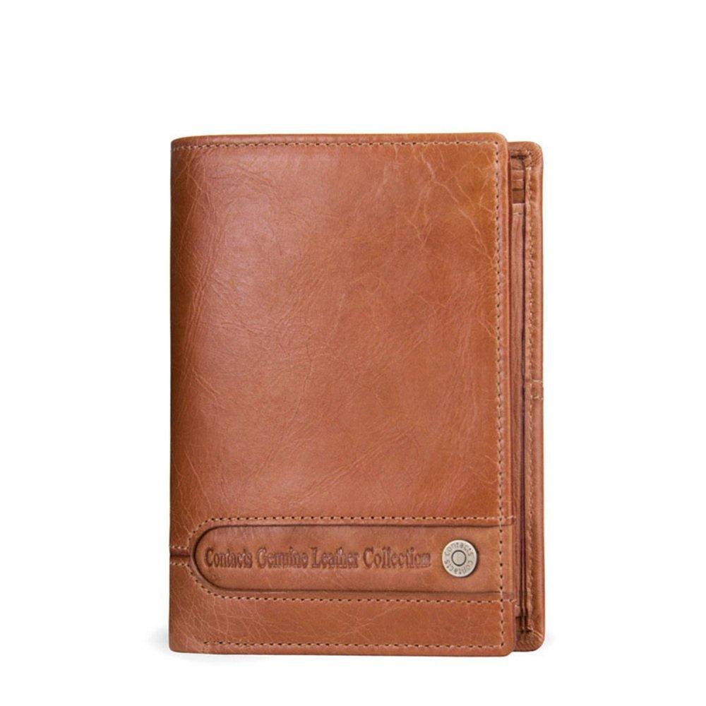Billetera Treinta por ciento de cuero genuino breve párrafo ambos hombres y mujeres cartera simple viaje de compras práctica Cartera de cuero para tarjeta ...