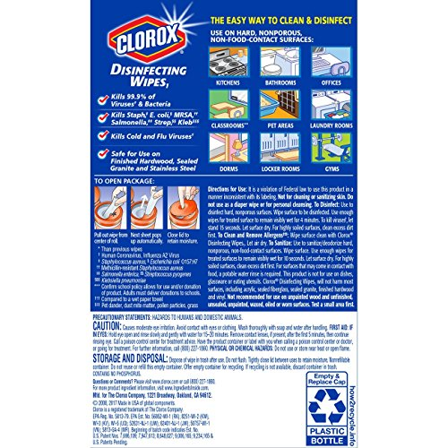 Clorox Disinfecting Wipes, Bleach Free Cleaning Wipes - Orange Fusion, 35 Count (Pack of 12) (Packaging May Vary) by Clorox (Image #9)
