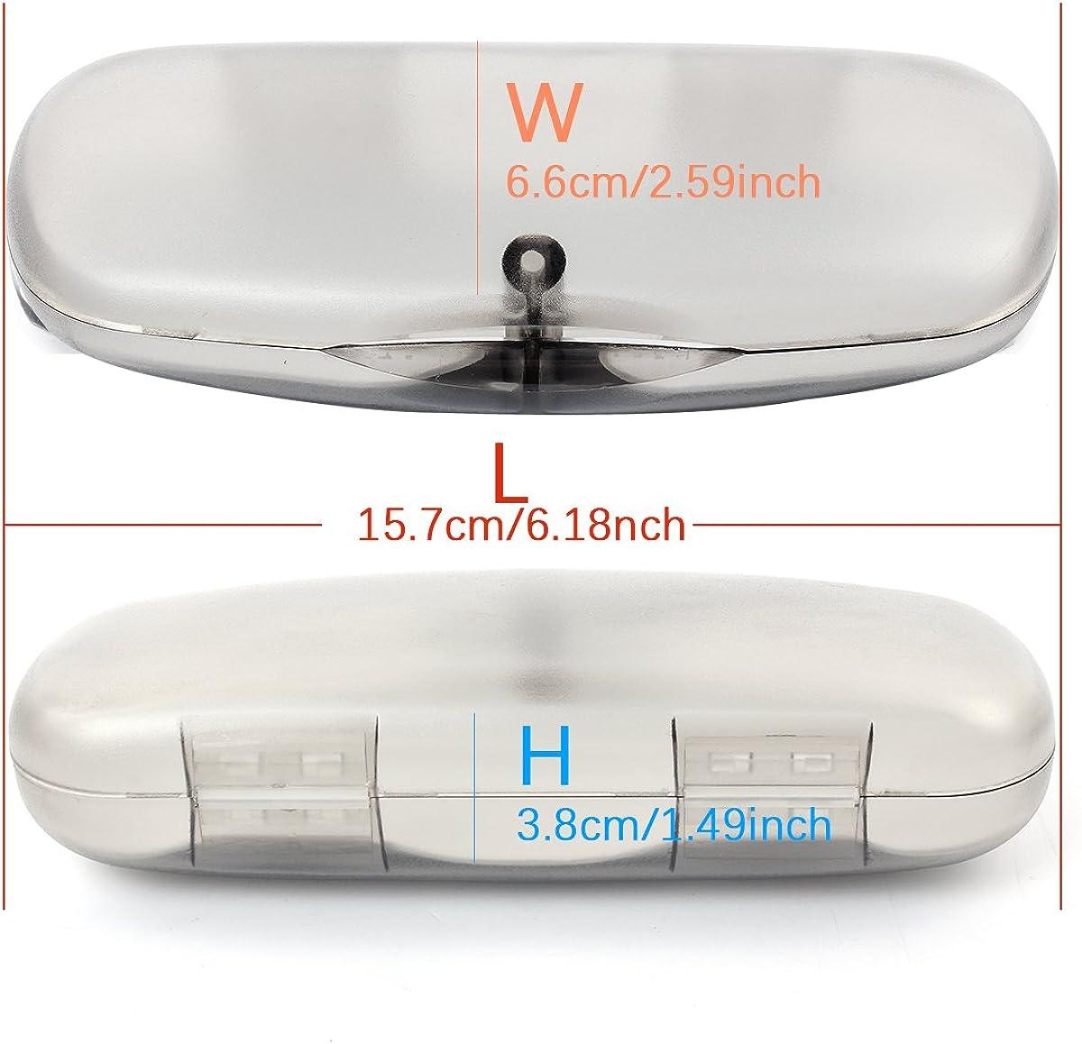 tragbar EZESO Hartschalen-Brillenetui /Ölgem/älde mit Reparaturwerkzeug und Reinigungstuch passend f/ür kleine bis mittelgro/ße Rahmen
