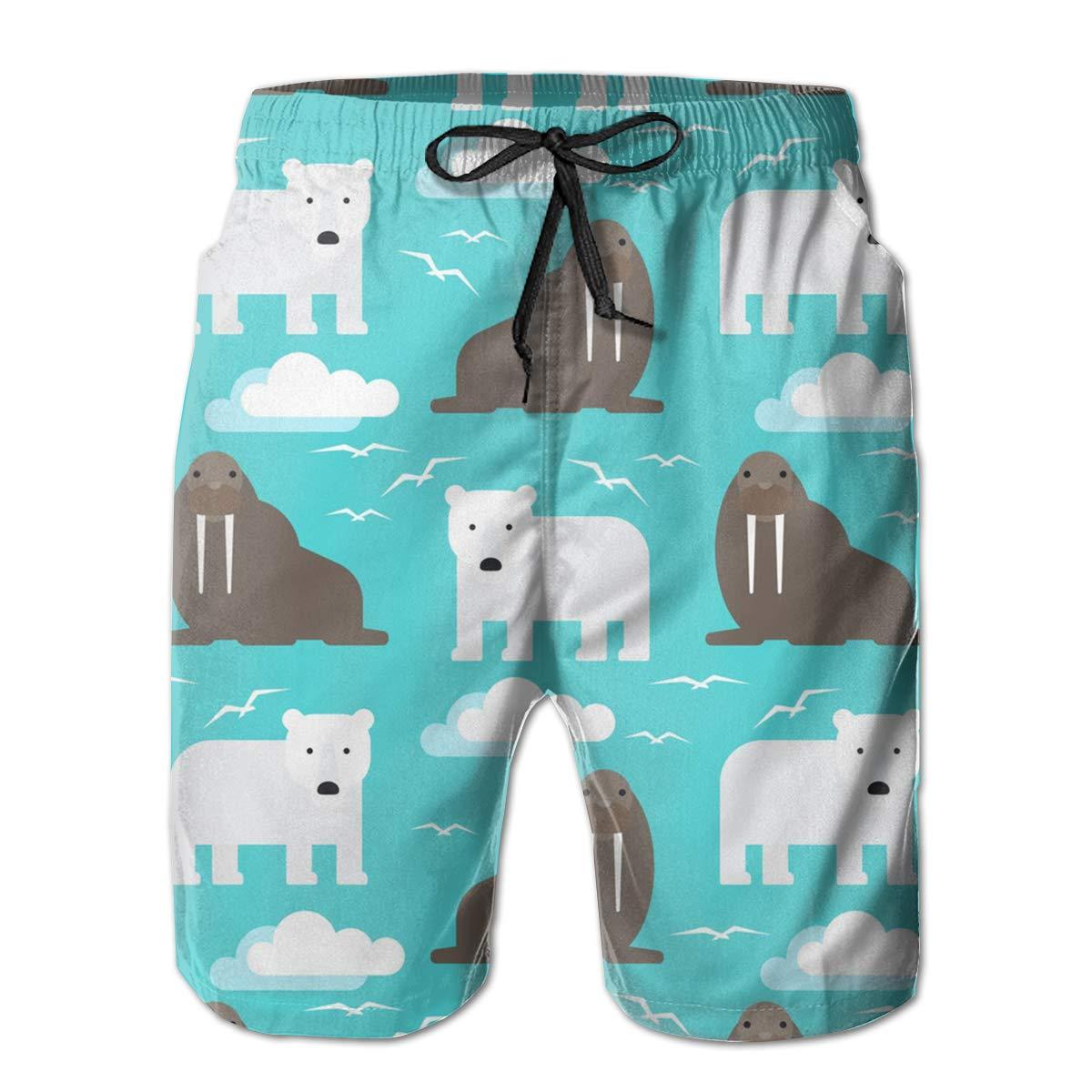Swim Trunks Boardshorts for Men Fancy Illusion Sea Lion Animal Funny Boy Men S Shorts