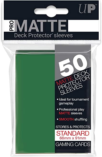 50 Ultra Pro WHITE DECK PROTECTOR Standard Size Card Sleeves NEW ccg Magic MTG