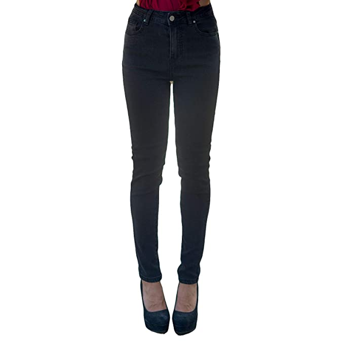 in arrivo outlet scegli il più recente MForshop Pantalone Donna Jeans Nero Aderente Casual Vita ...