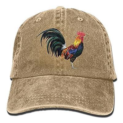 Safan532 Unisex The Lifelike Rooster Funny Logo Summer Fashion Cotton Baseball Cap Adjustable Trucker Hats For Outdoor Sport