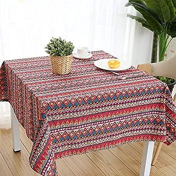 Amazon.com: Mantel de algodón con mezcla de lino, hecho a ...