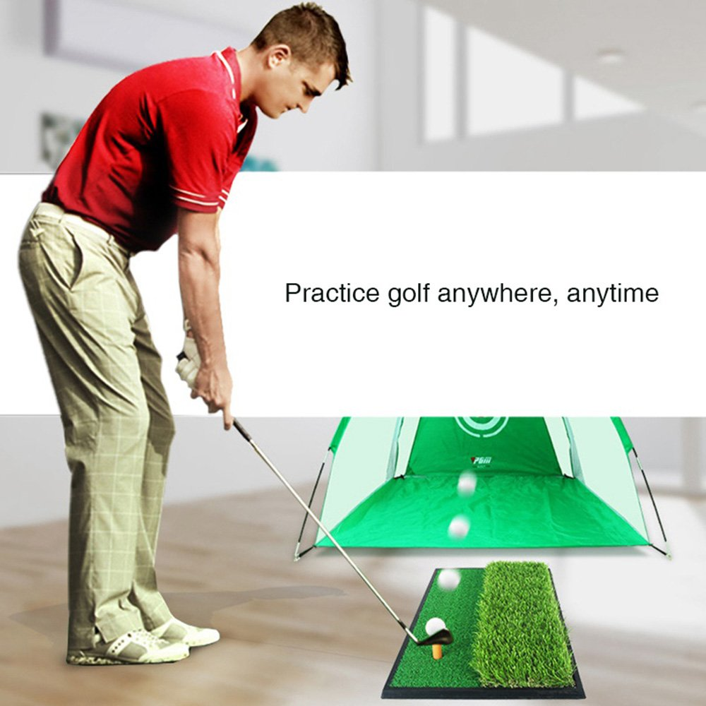 Foxcesd Golf Mat, Golf Hitting Mat with Realistic Fairway & Rough Portable Golf Practice/Training Turf Mat Mini Golf Green Grass Putting Mats for Indoor and Outdoor Golf Sports 12'' x 24'' by Foxcesd (Image #5)