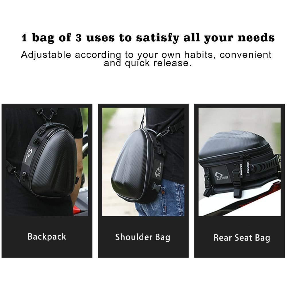 Meetcoer Motorcycle rear seat package tail package quick release buckle fuel tank bag hard shell waterproof single shoulder bag