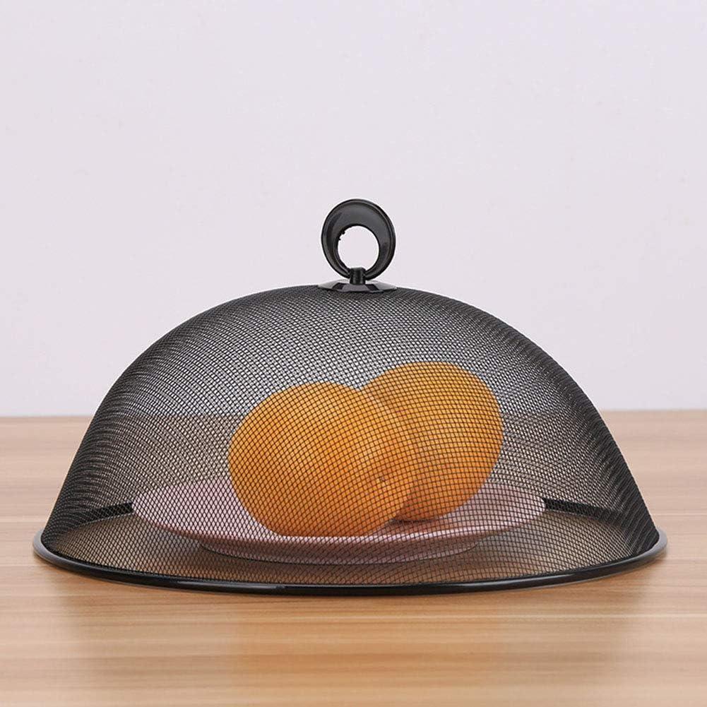 table en m/étal forme ronde couvercle de nourriture avec poign/ée protecteur de nourriture couvercle antipoussi/ère outils pour la maison couvercle pour pique-niques Couvertures de nourriture BBQ