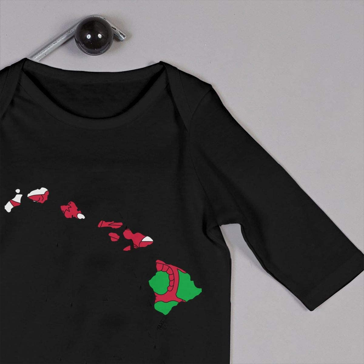 YELTY6F Hawaii Map Welsh Flag Printed Boys Girls Jumpsuit Long Sleeve Romper Black