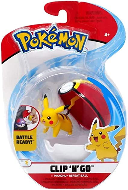 Pikachu With Repeat Ball Battle Ready NEW Pokemon Clip /'N/' Go