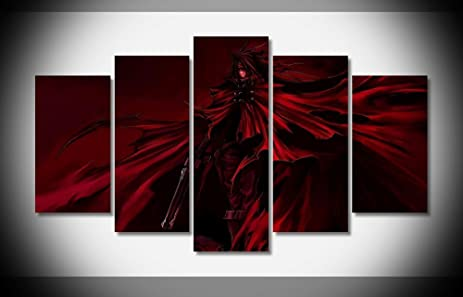 Amazon.com: Final Fantasy Vincent Valentine, Canvas Wall Art Framed ...