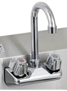 Royal Industries Hand Sink Replacement Faucet, Labeled Hot And Cold  Handles, Chrome Plated,