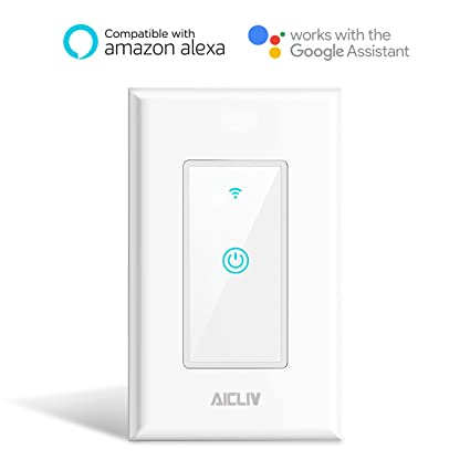 Smart Switch, Aicliv WiFi Light Switch Works with Amazon Alexa and ...