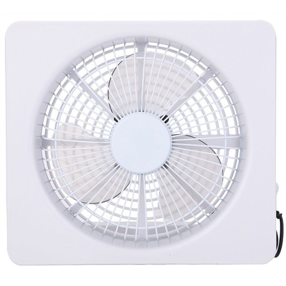 Clock Mini Fan 6Inch White Battery USB Powered Brushless Motor Office