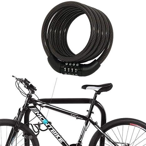 Kloius Candado de Bicicleta Código de Seguridad de la Bicicleta de ...