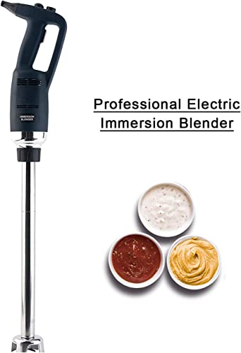 Li Bai Heavy Duty 20 Immersion Commercial Blender For Home Restaurant Hand Emersion Mixer Electric'stick blender Speed control 500W motor Removable Shaft 2500rpm to 15000rpm