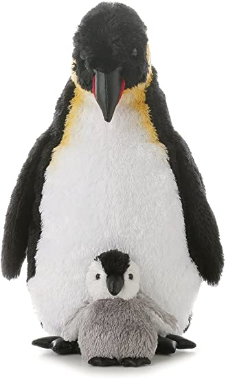 Aurora World Emperor Penguin With Baby 12 Inches