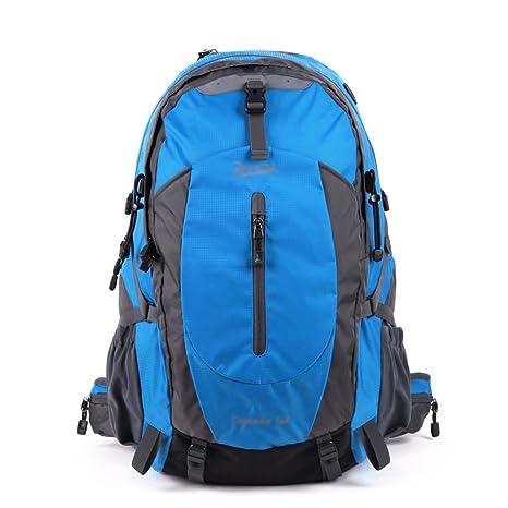 mochilas montaña Hombre / mujer al aire libre impermeable senderismo bolso 50L vacaciones de ocio paquete