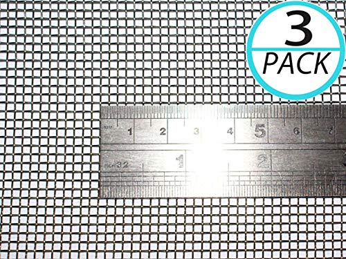 (Pack of 3) Woven Wire 10 Mesh 12''X 24'' 30X60cm Size 2mm Hole Coarse,Gauze Stainless Steel 304L 61% Open Area Rodent Mesh Garden Wire Mesh Replacements Cabinets Wire Mesh by YIKAI