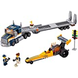LEGO City Great Vehicles Dragster Transporter 60151 Building Kit