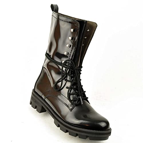 the latest 18173 d71e8 Tamaris, Stiefelette, Boots, Schnürer, Lack, in schwarz ...