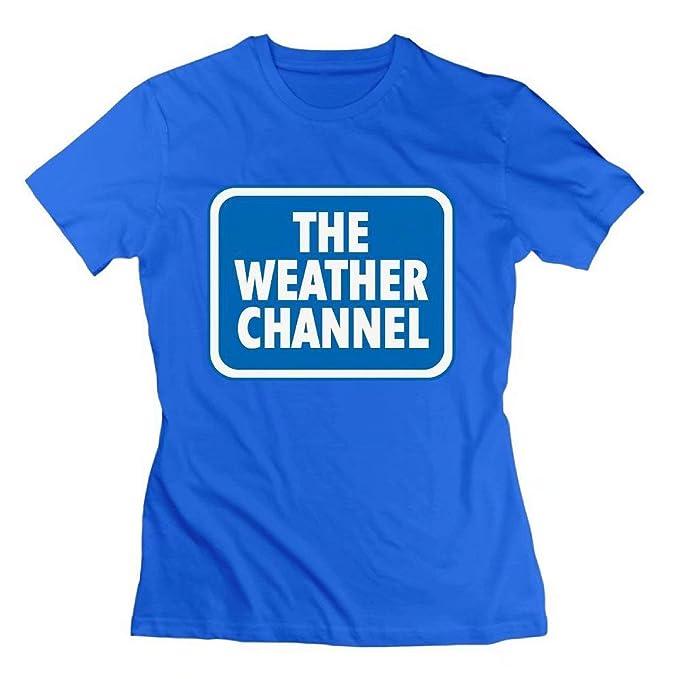 1b95410eeba3c Amazon.com: STONSTAIN Womens Tee The Weather Channel RoyalBlue Short-Sleeve  T Shirts: Clothing
