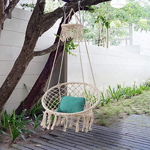 Sonyabecca Large Hammock Chair wih Top Circle Tassels