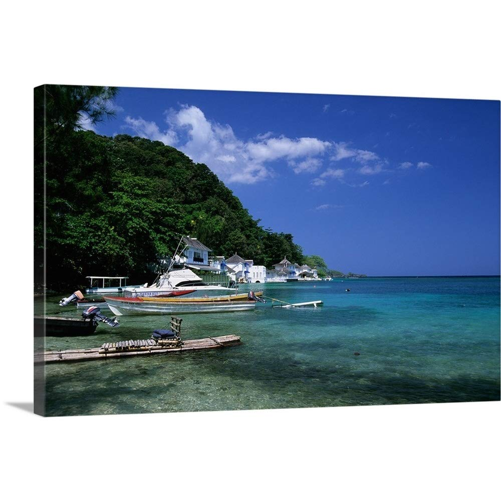 Amazon Com Gallery Wrapped Canvas Entitled Jamaica Port