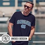 Campus Colors North Carolina Tar Heels Adult Arch & Logo Soft Style Gameday T-Shirt - Navy, X-Large