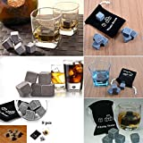 9Pcs Whisky Ice Stones with Pouch Drinks Cooler Cubes Beer Rocks Granite