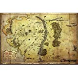 """The Hobbit Poster Map of Middle Earth (55""""x39"""")"""