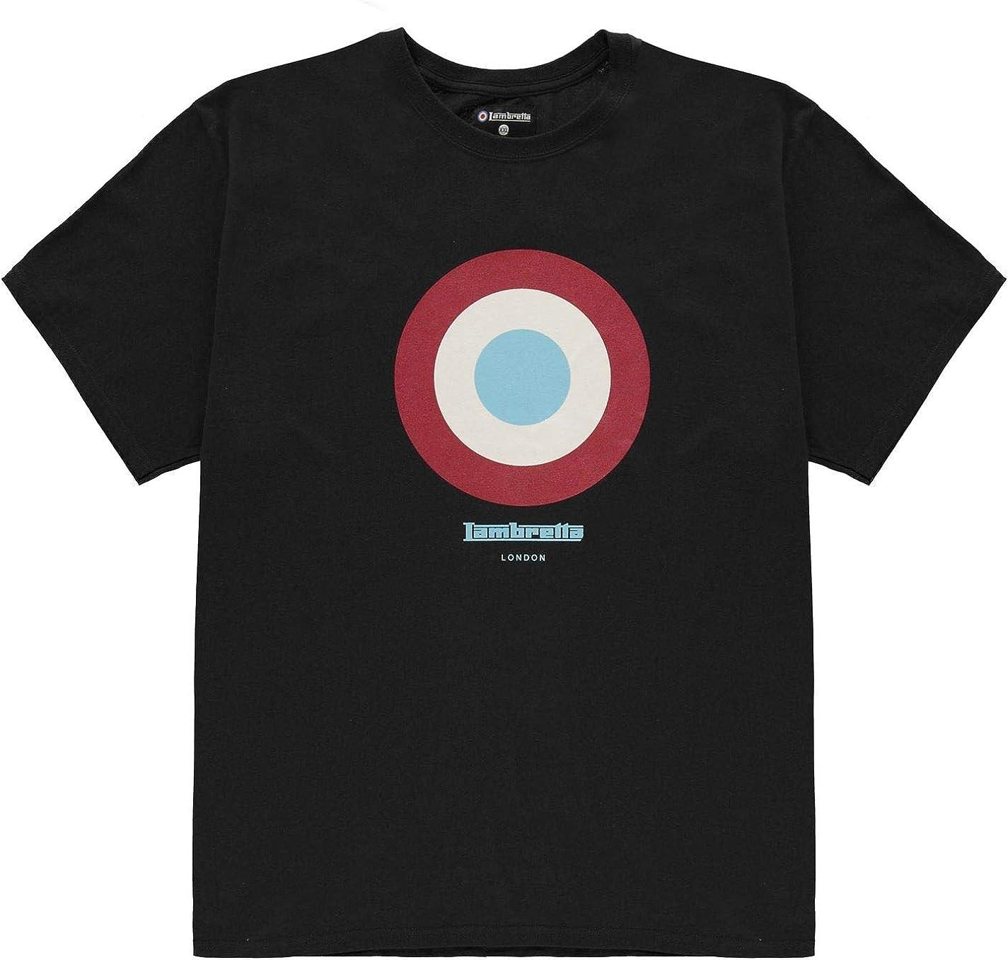 Lambretta Hombre Camiseta Deporte Manga Corta Cuello Redondo Negro XL: Amazon.es: Ropa y accesorios