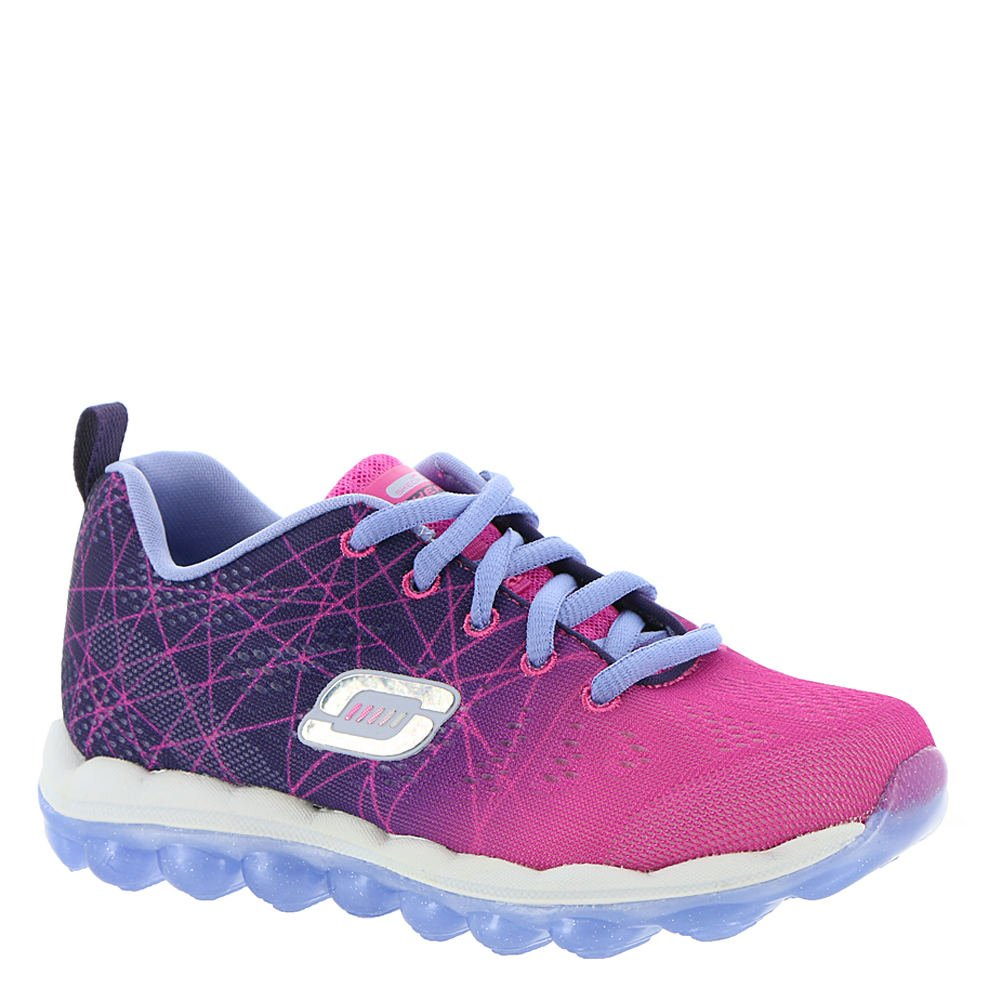 Skechers Kids Skech Air Laser Lite Sneaker (Little Kid/Big Kid),Purple/Neon Pink,
