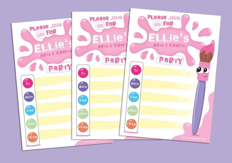 20 Children\'s Birthday Party Invitations Art & Craft Painting ...