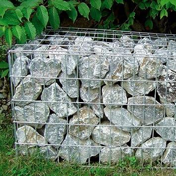 Gavión (piedra jaula), 500 x 500 x 300 mm, tamaño: L