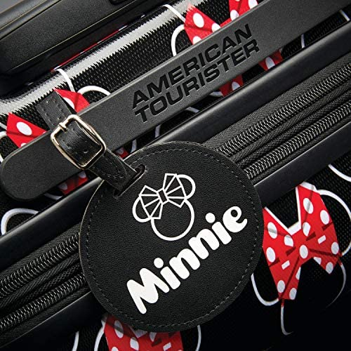 American Tourister Disney Hardside Luggage with Spinner Wheels, Minnie Mouse Head Bow, Carry-On 21-Inch,115372-4754