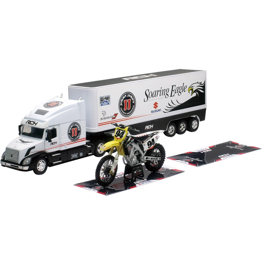 New Ray 14295 ''RCH Team 2015 (Volvo Vn-780) with Motorbike Model Truck