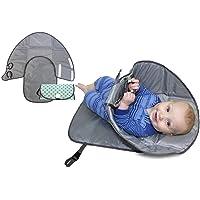 Okayji Folding Waterproof Baby Pad Portable Clean Hands Diaper Clutch Camping Baby Moisture Proof Pad, Grey