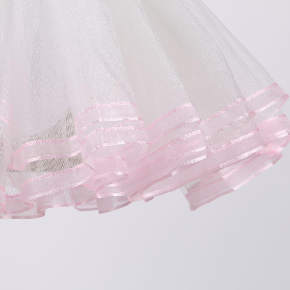 Miyanuby Ragazza Leotard Tutu Balletto Body per Ragazze Dance Ginnastica Vestito Danza Abiti Vestitino Ballerina Bambina 3-8 Anni