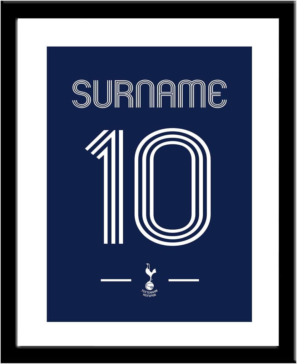 Personalised Tottenham Hotspur Fc Retro Shirt Framed Print Amazon Co Uk Sports Outdoors