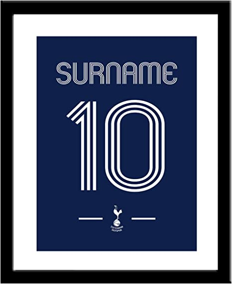 Personalised Tottenham Hotspur Fc Retro Shirt Framed Print Amazon Co Uk Sports Outdoors
