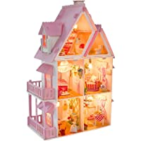 Kisoy Romantic and Cute Dollhouse Miniature DIY House Kit Creative Room Perfect DIY Gift for FriendsLovers and Families(Sunny Alice)