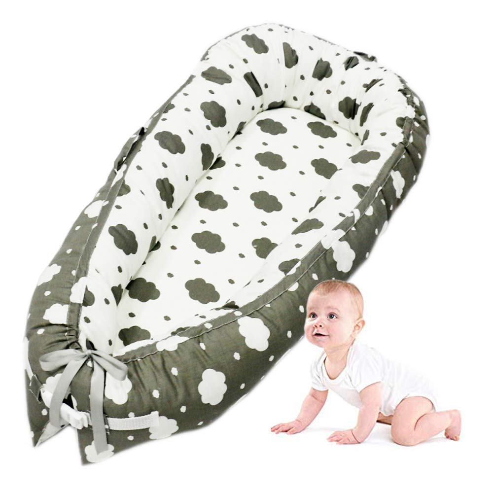 Baby Lounger Portable Multi-Functional Baby Nest, Soft and Breathable100% Cotton Baby Uterus Bionic Bed All in One Baby Lounger (by-2055) Myconvoy