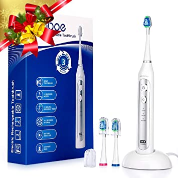 Liaboe Cepillo Dientes Electrico Sónico, Recargable Cepillo Dental Electrico con 3 Modos, Base de
