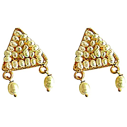 Surat Diamonds gold-plated Stud Women Gold (SE47) Earrings at amazon