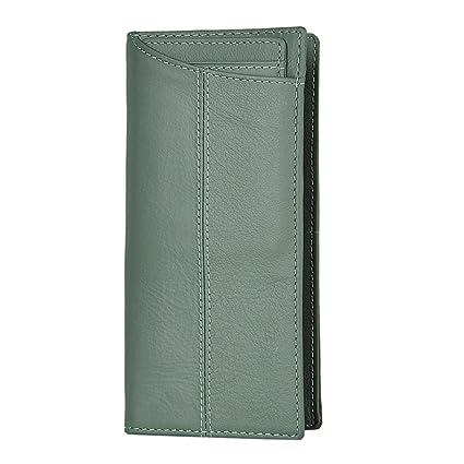 Carteras minimalistas para hombres Cartera de cuero genuino de los hombres Cartera larga y billetera de